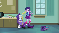 Rarity takes Twilight's measurements EG.png