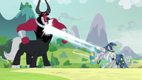 Star Swirl, Mistmane, and Meadowbrook attack Tirek S9E24