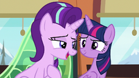 Starlight Glimmer --I wouldn't say mobbed-- S6E16