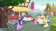 Starlight Glimmer approaches the main five S6E21