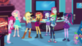 Sunset and friends cheering in the game store EGDS2.png