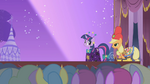 Twilight and Applejack on the runway S1E14