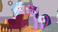 Twilight asks Silverstream about Dusty S9E5