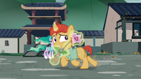 Villager colt runs away with a flower S7E16
