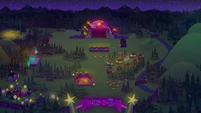 Wide nighttime view of Starswirled festival EGSBP