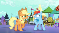 Applejack and Rainbow Dash worried S3E01