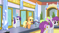 Applejack and Rarity enter the stadium lobby S4E24.png