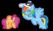 FANMADE Rainbow Dash coaching Scootaloo