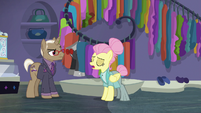 Fluttershy addresses Bracer in new persona S8E4