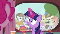 Foals behind the window looking at Twilight S4E15