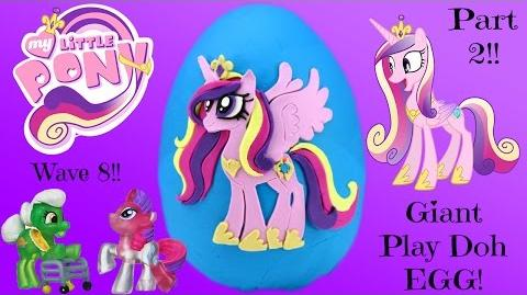 GIANT Princess Cadence My Little Pony Surprise Egg Play Doh - Part 2 MLP Wave 8 Neon Collection