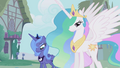 Luna and Celestia in Ponyville S01E02.png