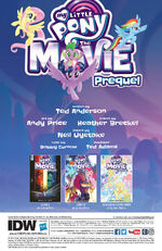 MLP The Movie Prequel issue 4 credits page