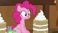 Pinkie Pie looks at yak cake and licks her lips S7E11.png