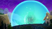Pulse of magic exploding outward S8E26