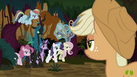 Queen Chrysalis gathers her minions together S8E13