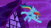 Rainbow Dash emphasizes -...in Ponyville!- S5E13