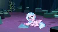 Silverstream sings as she draws blueprint S9E3