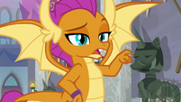 "Smolder ""I'm guessing that one"" S8E15"