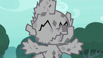 Spike completely cocooned in stone S8E11