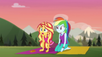 Sunset Shimmer in awe of the sunrise CYOE11b