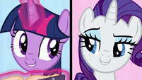 Twilight and Rarity sing -we've got dents- S7E14