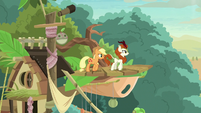 AJ and Autumn Blaze on the balcony S8E23