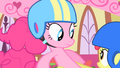 Apple Bloom holds Pinkie Pie S1E23.png