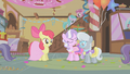 Apple Bloom smiling at Diamond Tiara and Silver Spoon S1E12.png