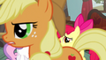 Applejack crosses in front of the Crusaders S5E6.png