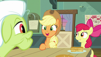 Applejack curious about Granny's help S9E10