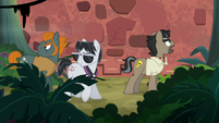 Caballeron and henchponies drawn by sound S6E13