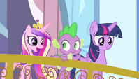 Cadance asking Spike to light the torch S4E24