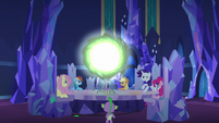 Changeling Seven opening a communication window S6E25