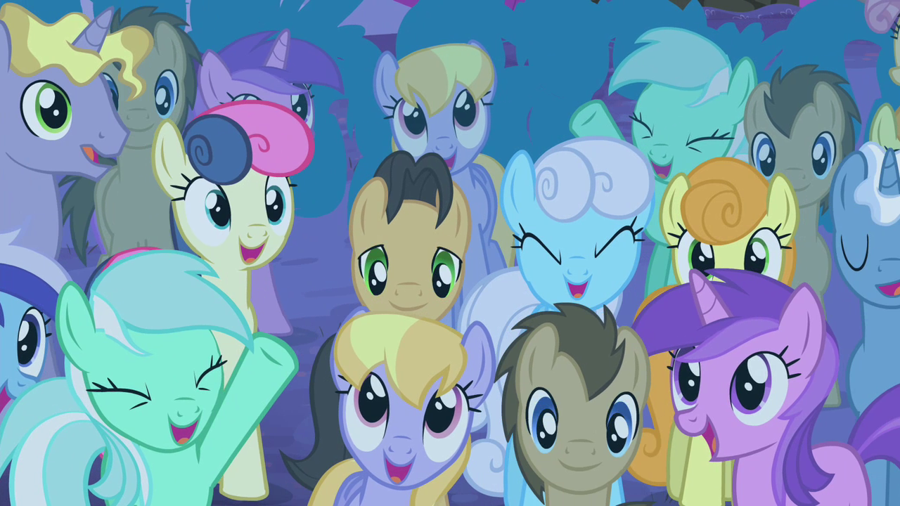 Image - Crowd cheering S4E14.png | My Little Pony ...