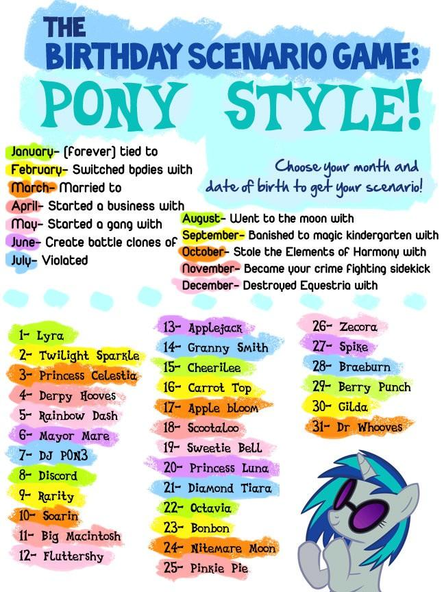 image fanmade birthday game jpg my little pony friendship is