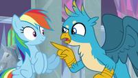 """Gallus """"Rainbow Dash, right?"""" S8E1"""