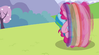 Pinkie Pie and Rainbow rolling S3E7