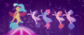 Princess Skystar and seaponies dancing MLPTM