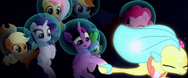 Princess Skystar pulls Twilight by the hoof MLPTM