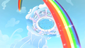 Rainbow Dash Cloudsdale rainbow S1E16.png