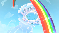 Rainbow Dash Cloudsdale rainbow S1E16