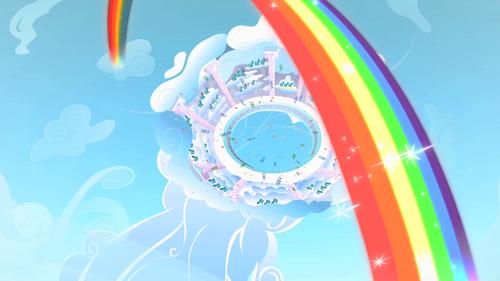 Rainbow Dash Cloudsdale rainbow S1E16