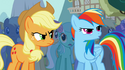Rainbow Dash boos at Trixie S1E06
