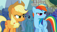 Rainbow Dash boos at Trixie S1E06