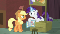 Rarity -the contact on the flyer is Coco Pommel!- S5E16