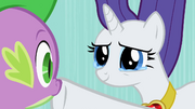 Rarity hushing Spike S2E10