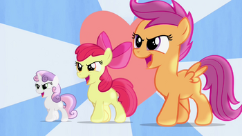 S04E05 Hearts Strong as Horses - Sweetie Belle, Scootaloo i Apple Bloom śpiewają