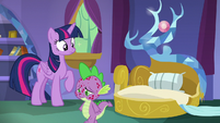Spike dejectedly gets out of bed S8E11