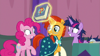 Sunburst appears between Pinkie and Twilight S9E16